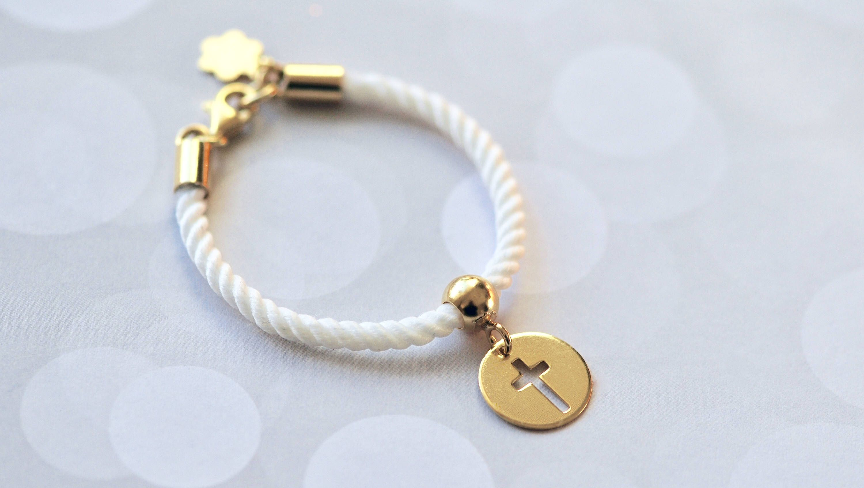 Baby Christening Baptism Gift Christening Baptism Bracelet White