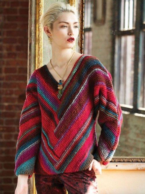 Kimono-sleeve pullover - Noro Knitting Magazine | Knitting Knitting ...