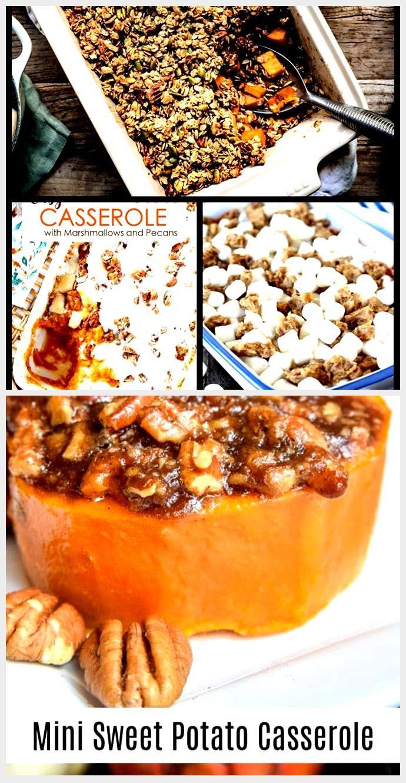Sweet Potato Casserole with Maple Granola #sweetpotatocasserole Healthy Vegan Sw...