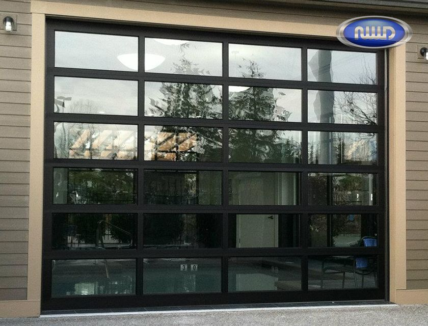 Modern Classic Mc64 Dark Bronze Anodized Finish Clear Glass Oversized Garage Door Modern Classic Aluminum Garage Aluminium Garage Doors