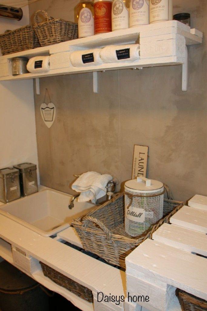 5 ideas de palets para el cuarto de la lavadora | Pallets