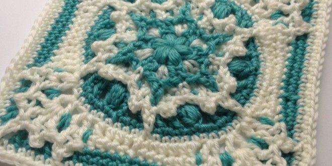 9 Inch Crochet Afghan Square Free Pattern | Fiber | Pinterest