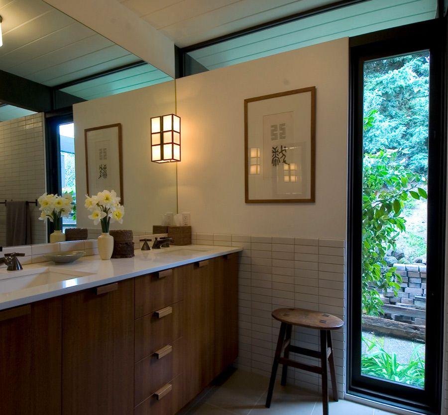 Michael Deperno Detailing Heath Tile Seamless Mirror Elle Decor Heath Tile Home
