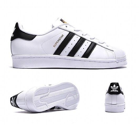 adidas superstar white with black stripes junior