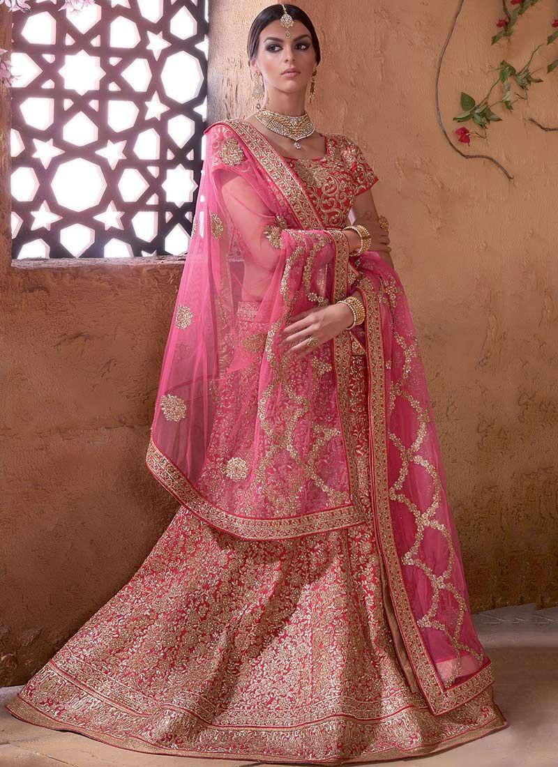 895b9d3877 Lehenga: Buy Ghagra Choli Online & Latest Lehenga Design | Cbazaar. June  2019. Pink Bridal ...