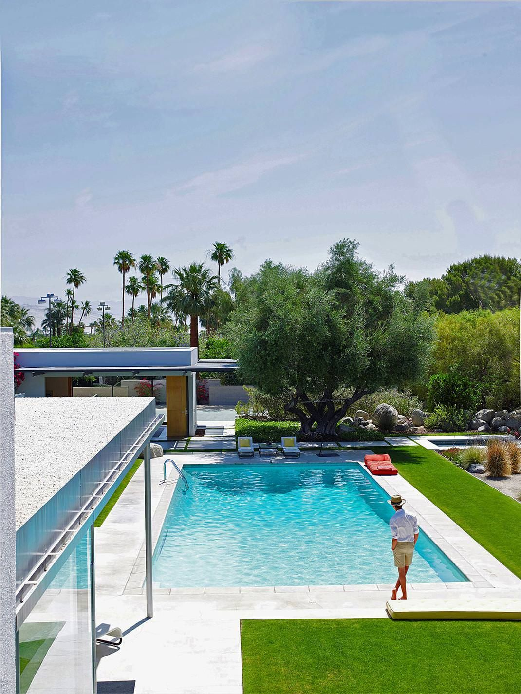 Image result for mid century modern inspiration palm springs house pool houses for Mt hood community college pool open swim