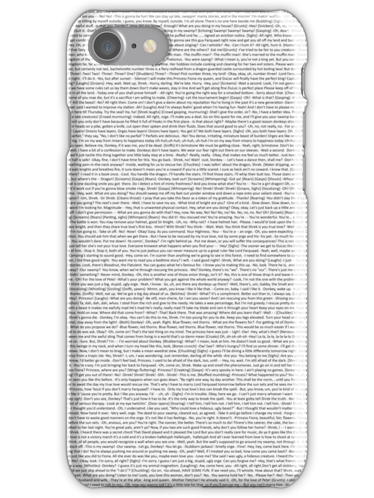 entire shrek script | iPhone Case & Cover | Products