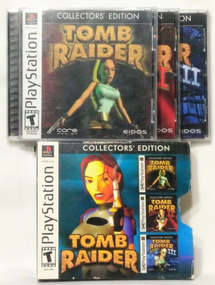 Tomb Raider Collectors Edition Ps1 Game Set In Slipcover 1 2 3