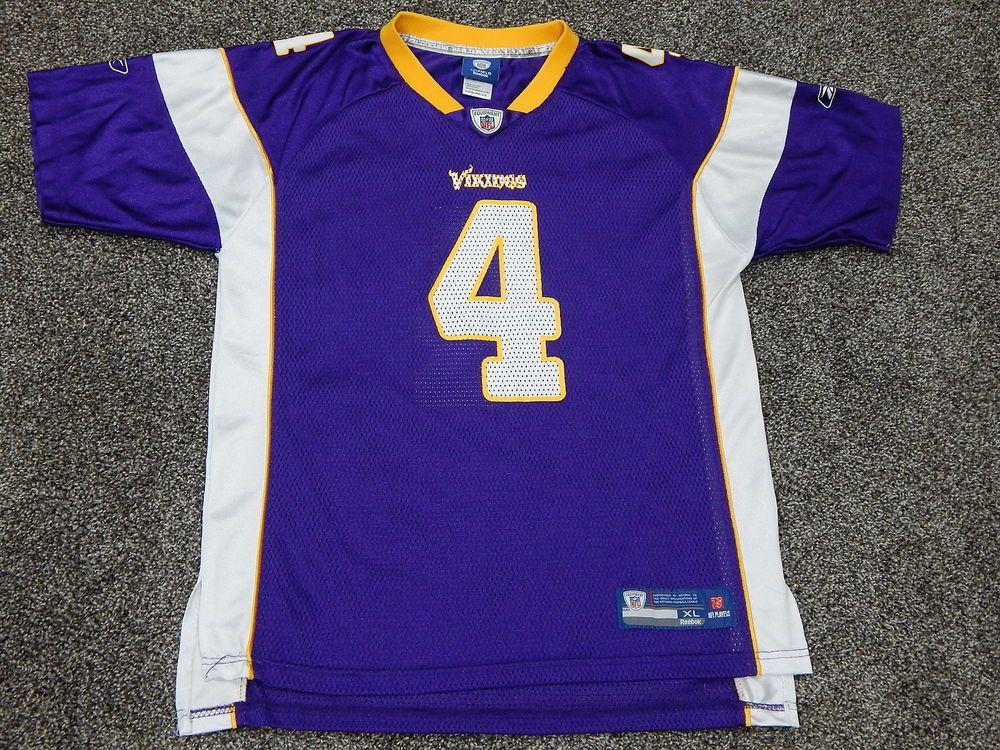Reebok Brett Favre  4 Minnesota Vikings NFL Football Jersey Youth XL   Reebok  MinnesotaVikings aaa7e5c9a