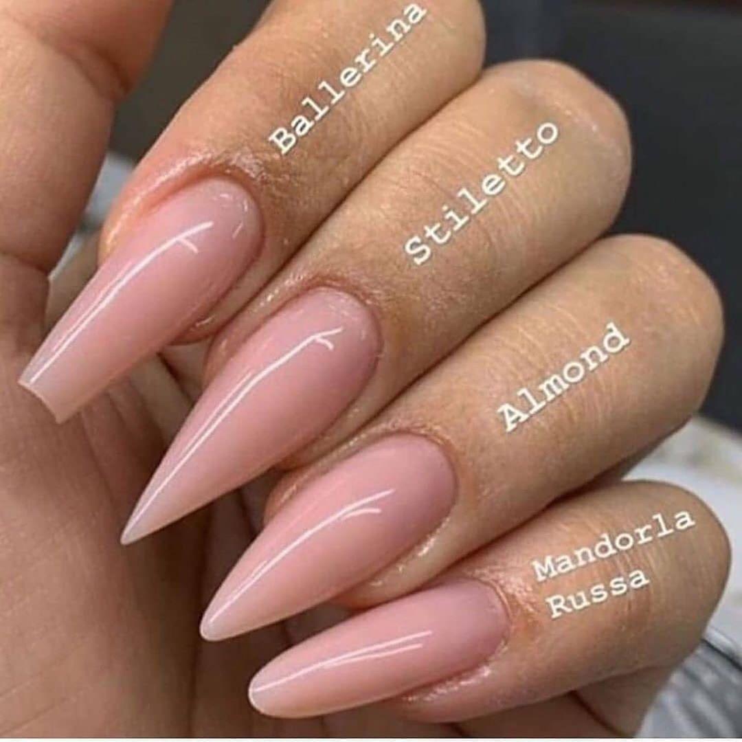 Ozden Guzel On Instagram Ballerina Stiletto Almond Or Mandorla Russa Credit Unknow Simple Acrylic Nails Ballerina Nails Acrylic Nail Shapes