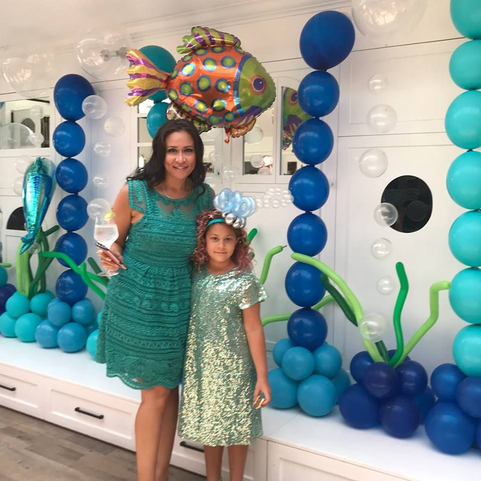 This Under The Sea Balloon Decor Was Perfect For This Little