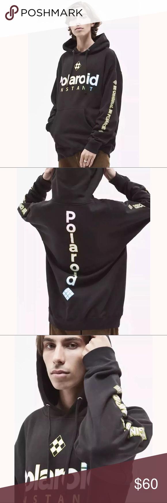 Pacsun Men S Polaroid Pullover Hoodie Black Pullover Hoodie Pacsun Mens Hoodies [ 1740 x 580 Pixel ]