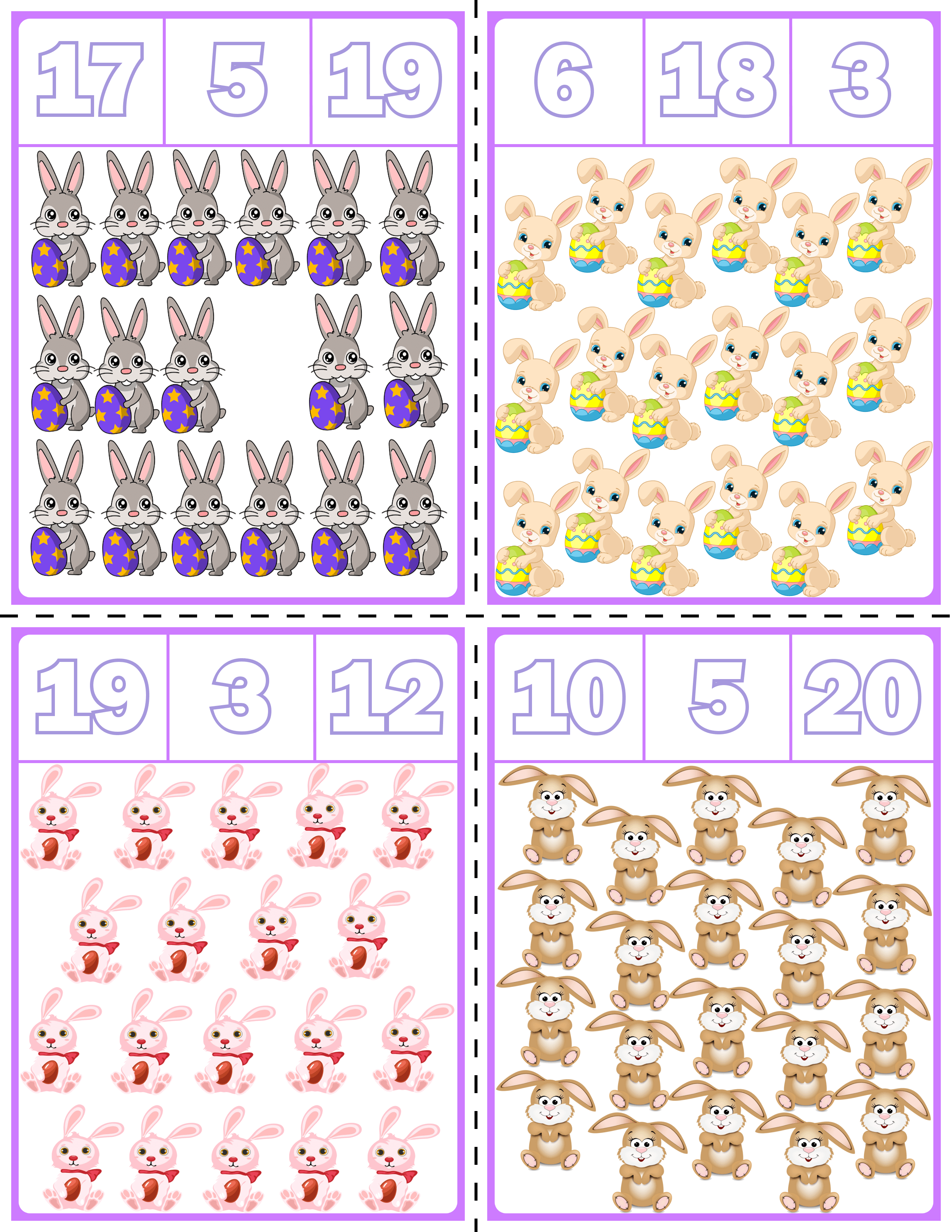 Easter Bunny Clip Cards