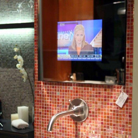Merveilleux Waterproof Mirror TV #bathroom #tv
