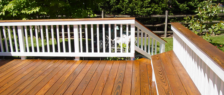 Deck stain ideas two tone would you like a two tone deck enjoy the elegance
