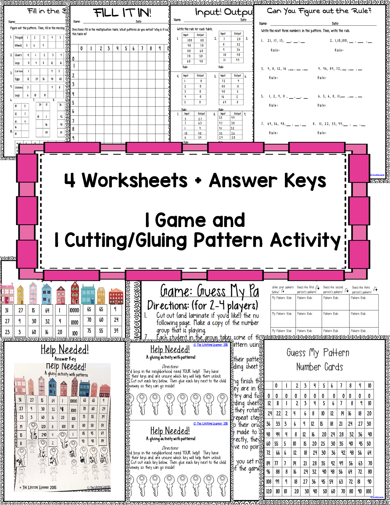 Multiplication Patterns Worksheets