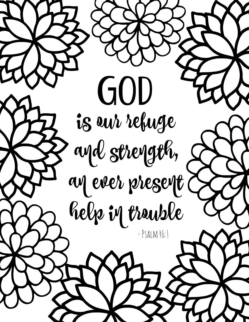 Free printable coloring pages for kids bible - Free Printable Bible Verse Coloring Pages With Bursting Blossoms