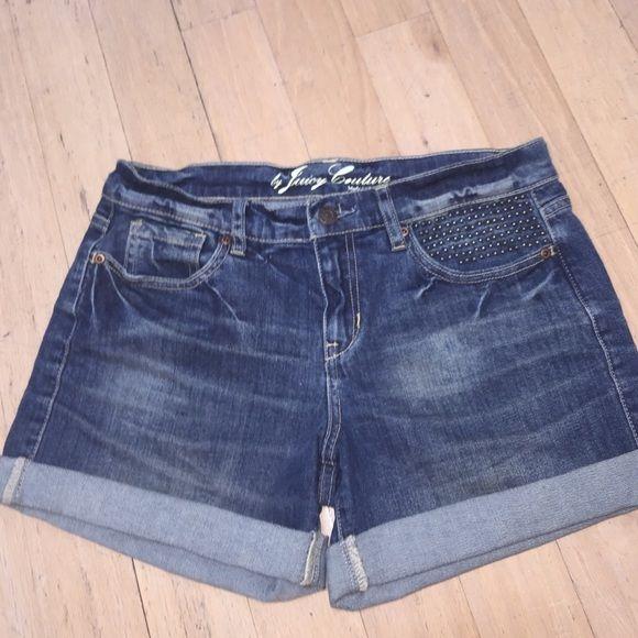Juicy Couture Mini Stud Jean Shorts Size 26. Authentic juicy couture jean shorts. Juicy Couture Shorts Jean Shorts