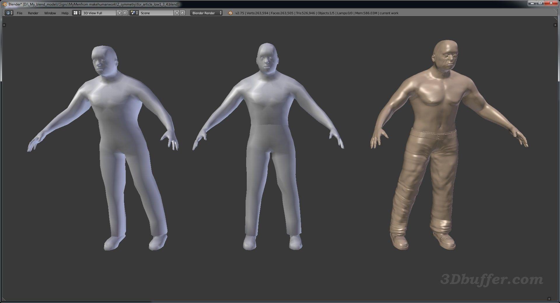 3D models Unity3D, Blender, Unity 3D, 3D characters, Fuse, Mixamo
