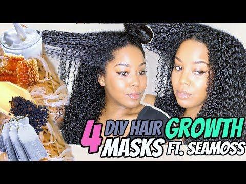 4 DIY Hair Growth Treatments Ft. Sea Moss | Natural Hair | Melissa Denise