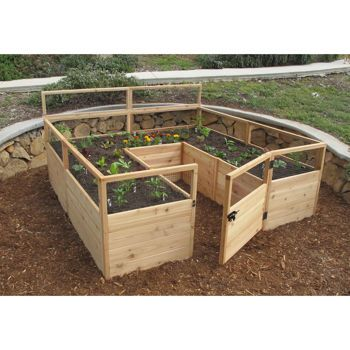 Costco 8 Ft X 8 Ft Cedar Raised Garden Bed Get For The 400 x 300