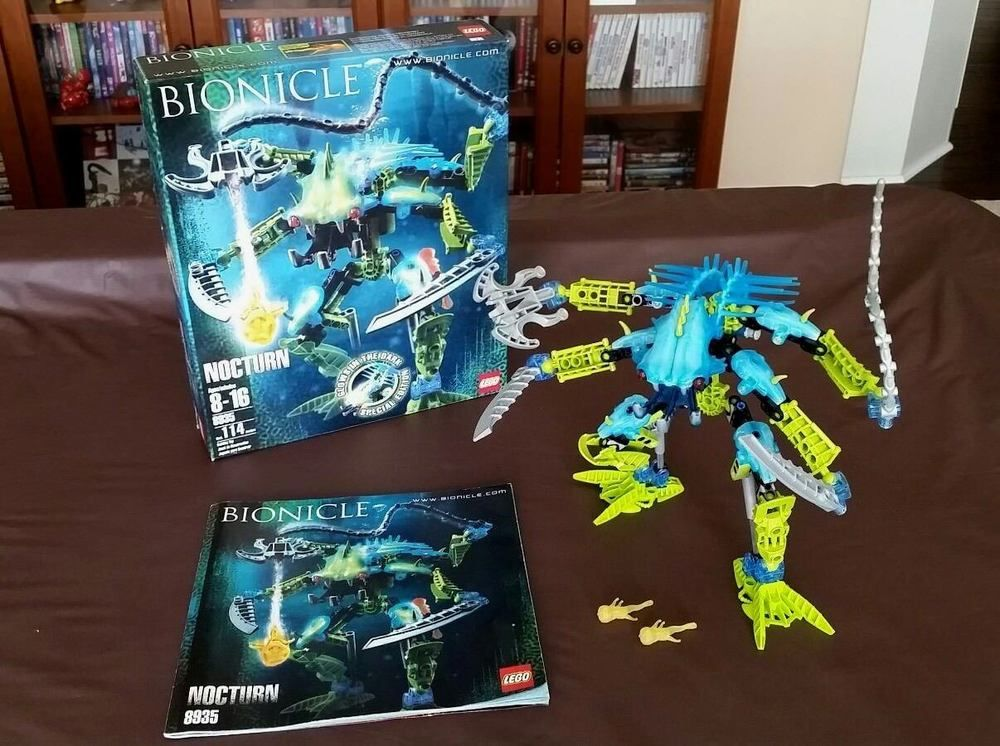 Lego Bionicle 8935 Nocturn 100 Complete With Instructions