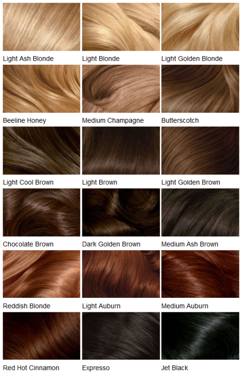 Panlight Clairol Hair Color Chart Loreal Hair Color Hair Styles