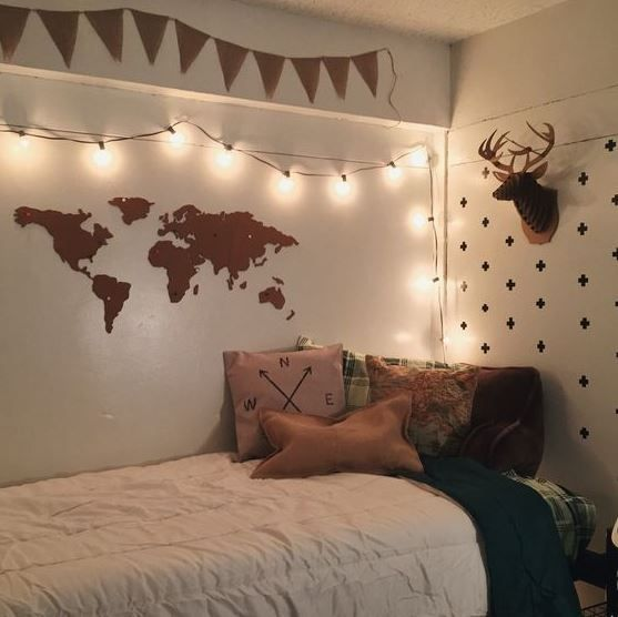 50 cute dorm room ideas that you need to copy college pinterest schlafzimmer schlafzimmer. Black Bedroom Furniture Sets. Home Design Ideas