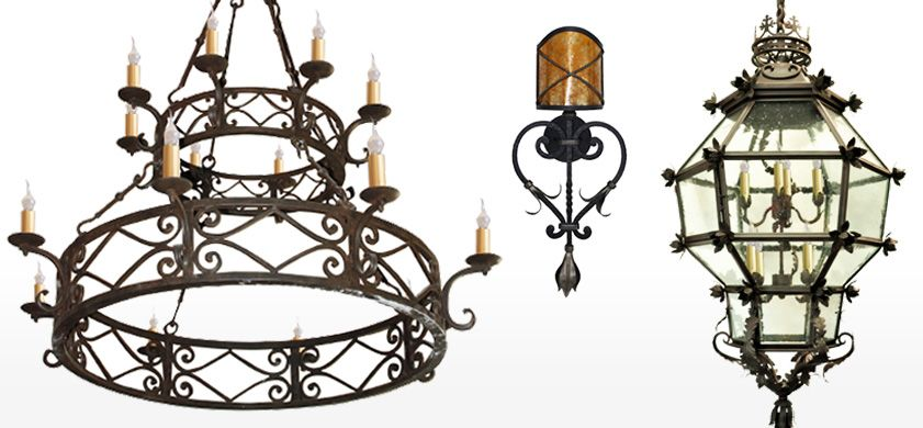 Wrought Iron Lighting Mexican Iron Chandeliers Wrought Iron