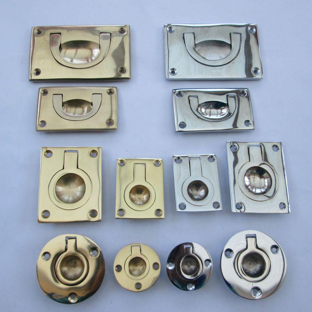 Furniture cabinet cupboard door recessed military flush inset ring ...