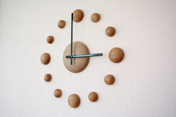 Big wall clock DIY clock Large wall clock Oak wood wall clock 18