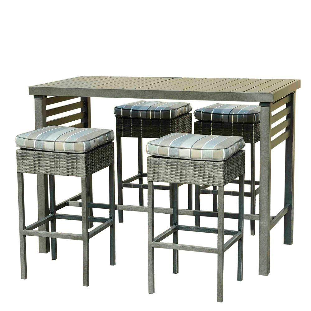 Sunjoy Counter Height 5 Piece Patio Serving Bar Set