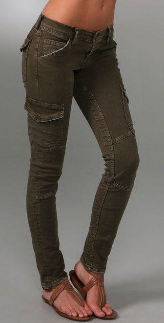 skinny olive cargo pants   Current Elliott The Skinny Cargo Jeans ... c6daa412ec