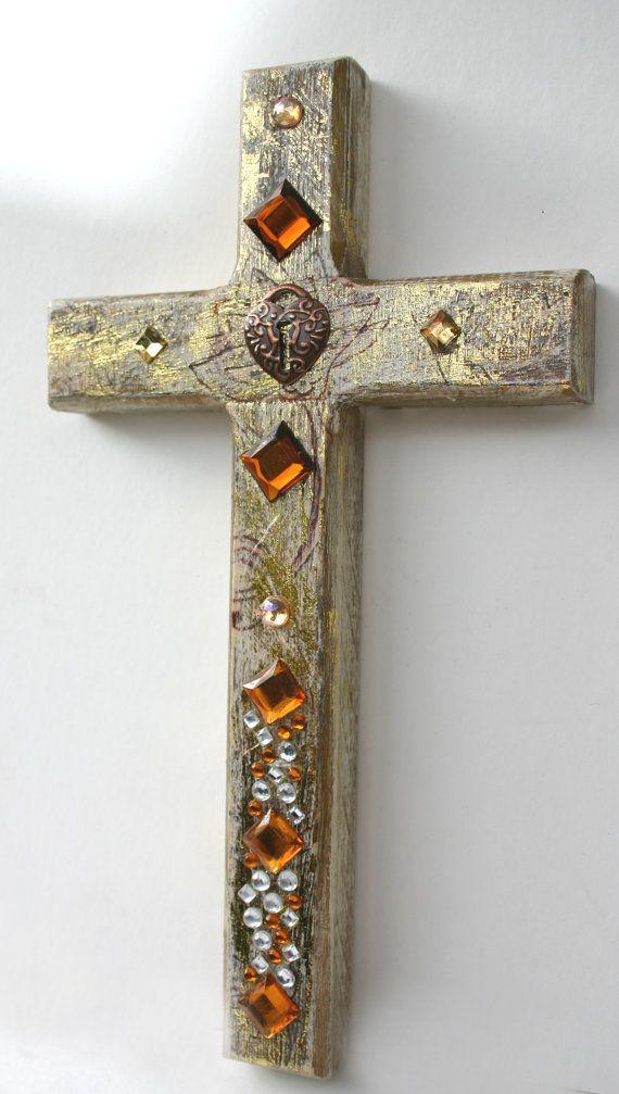 Wall Cross Decorative Wall Cross Ornate Wall Cross By Jemyem, $12.00