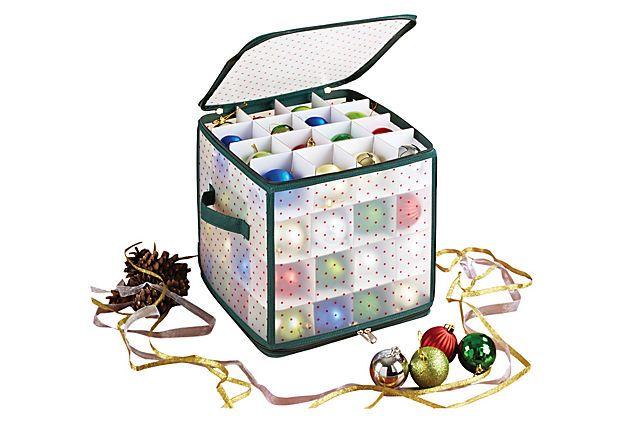 One Kings Lane - Season's Best - 64-Count Ornament Storage Box