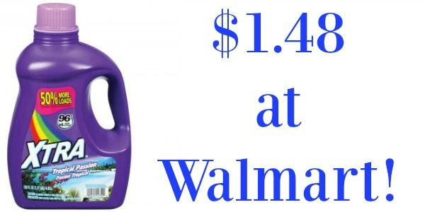 Walmart Xtra Laundry Detergent Only 0 98 Xtra Detergent Xtra
