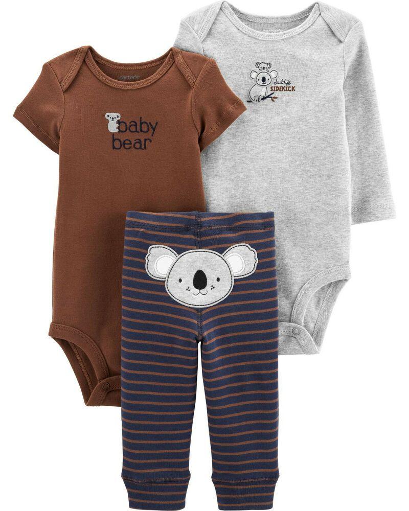 Carters Baby Boy Newborn 3 6 9 12 18 24 Months Bodysuit Pant Set Koala Brown