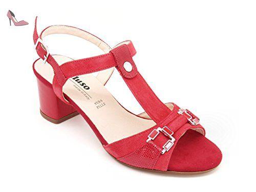 Sandales Rouge Eu Rouge Pour Femme Melluso 34 awFxdqaI