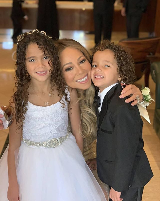 #MariahCarey and #DemKids! Yasss at #MissMonroe with her #LoveTakesTime curls! #IceCreamConvos.com #ICCLuhDaKids