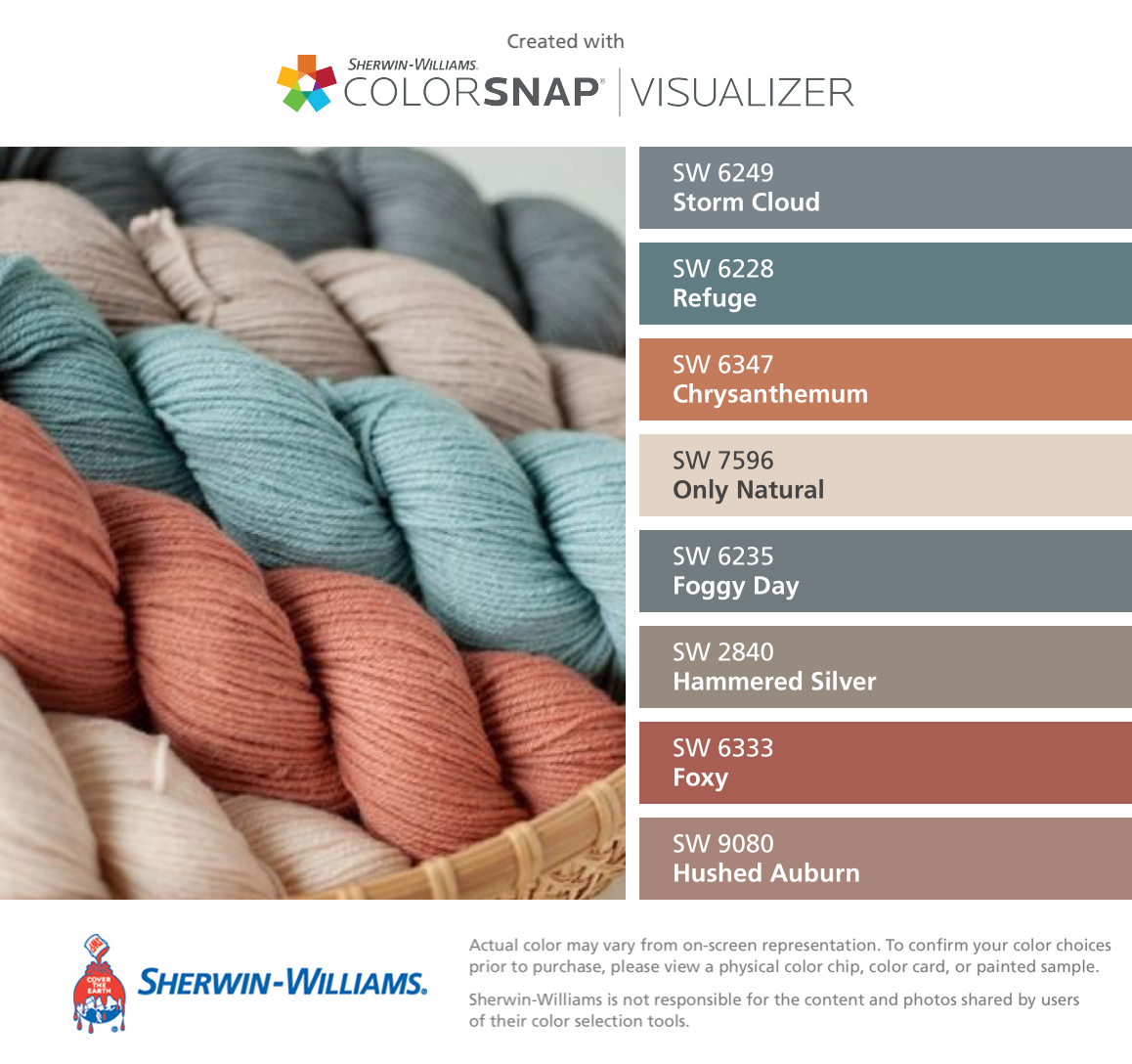 Sherwin williams paint colors sherwin williams 6249 storm cloud - I Found These Colors With Colorsnap Visualizer For Iphone By Sherwin Williams Storm