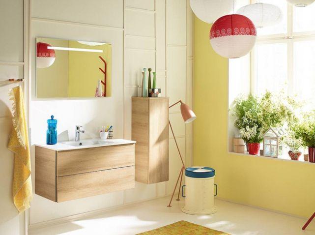 20 salles de bains colorées - Elle Décoration | Salle de bain ...