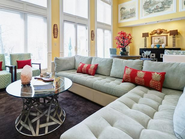 Neutral living room with organic touches designers  portfolio hgtv home garden television  like this couch also rh pinterest