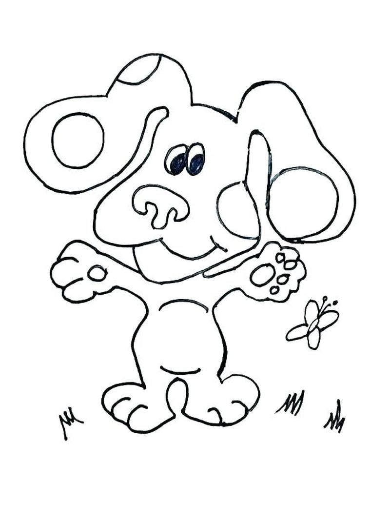 Blues Clues Printable Coloring Pages For Those Of You Who Were Born In The 90s You Should Know About This Adorable Children S Television Series Yep He Is Th