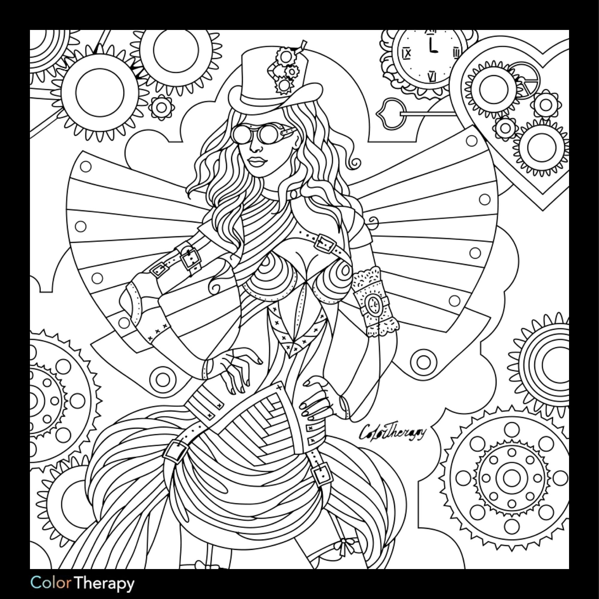 Steampunk Coloring Page Steampunk Coloring Coloring Books Coloring Pages