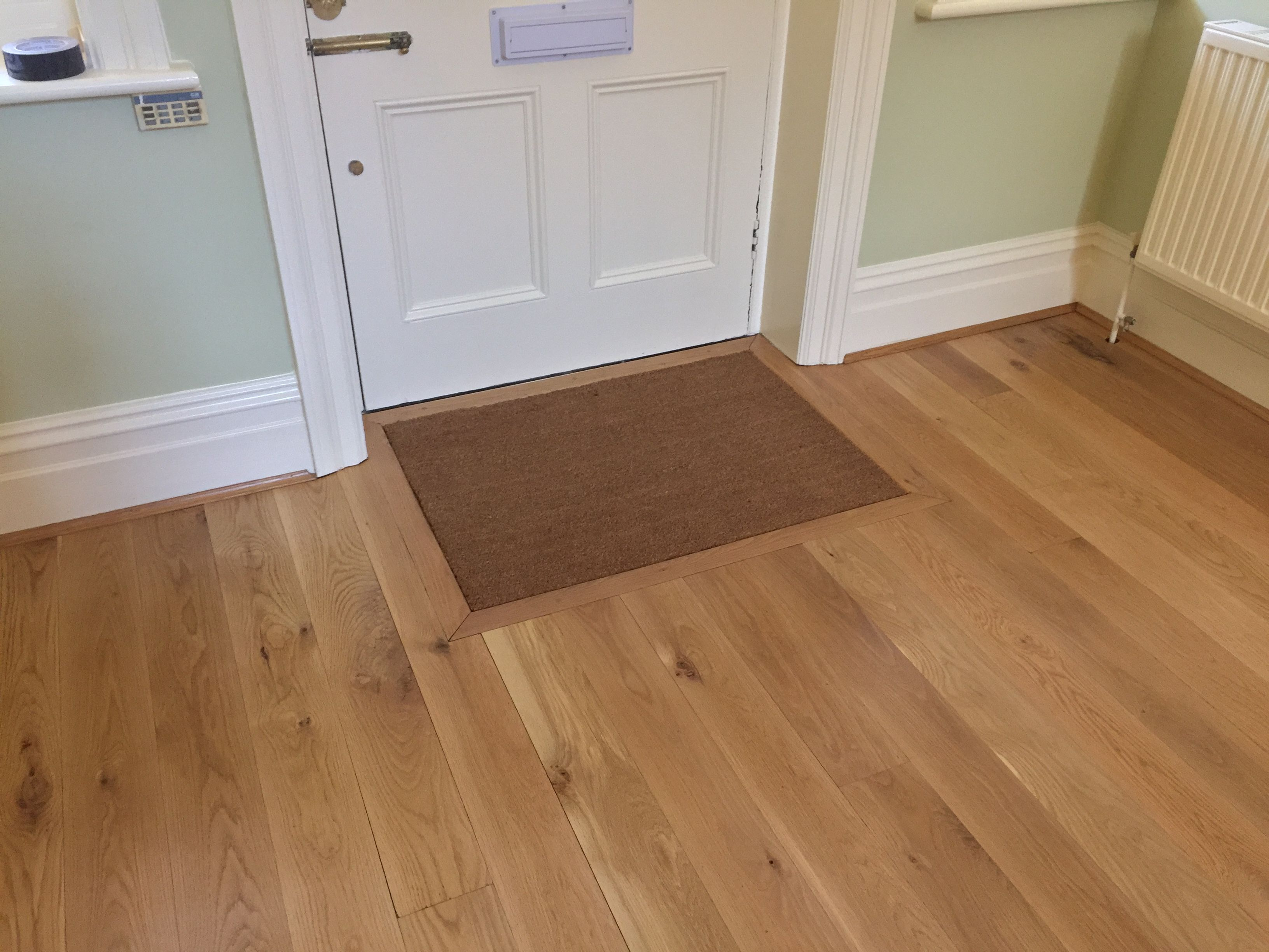 A Coir mat is a great way to protect your oak wood floor
