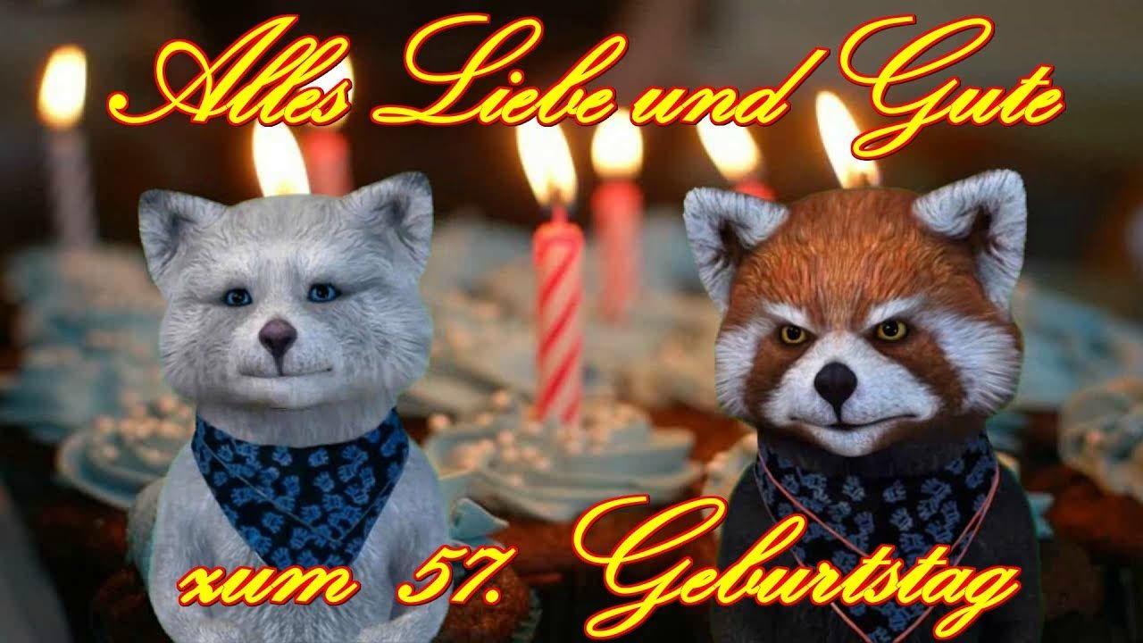 Alles Liebe Gute Zum 57 Geburtstag Happy Birthday To You