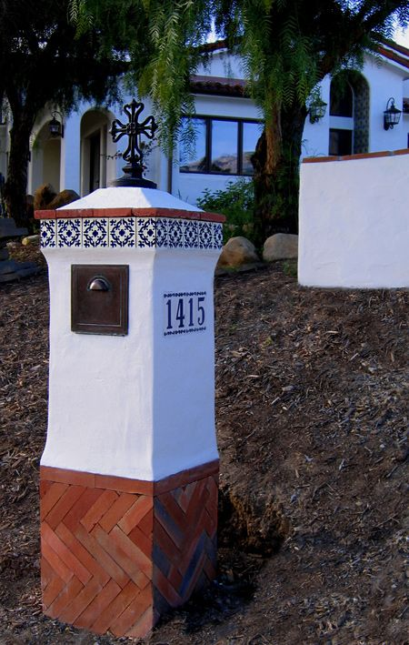 superior New Orleans Style Mailboxes Part - 7: Spanish Style Mailbox designs and components for sale