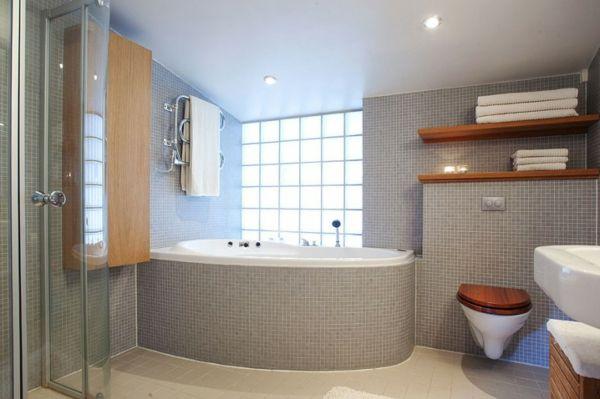 Mosaikfliesen Bad graue mosaik fliesen bad die kombi mit holz ist badezimmer