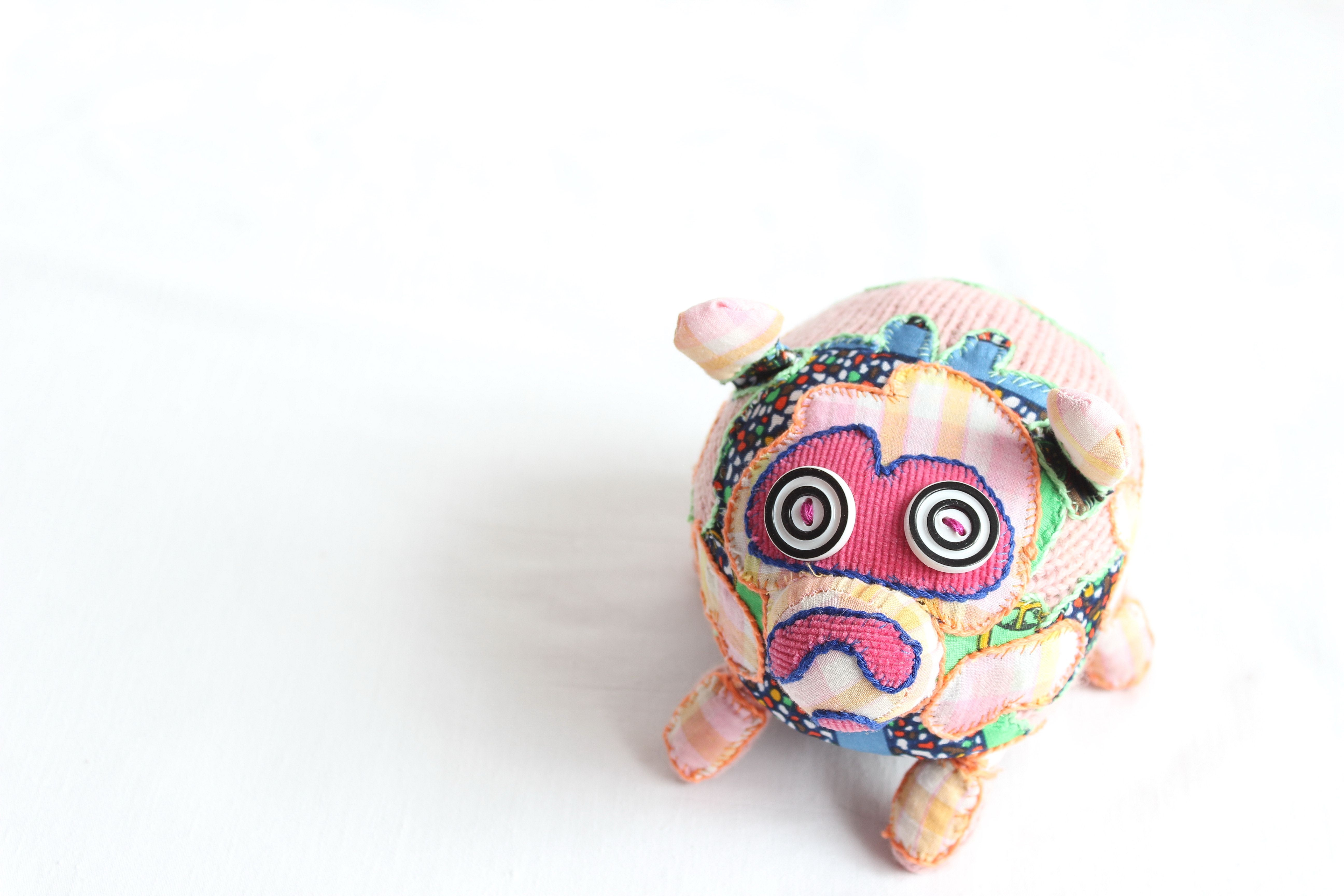 Hand Knitted Little Pig Toy