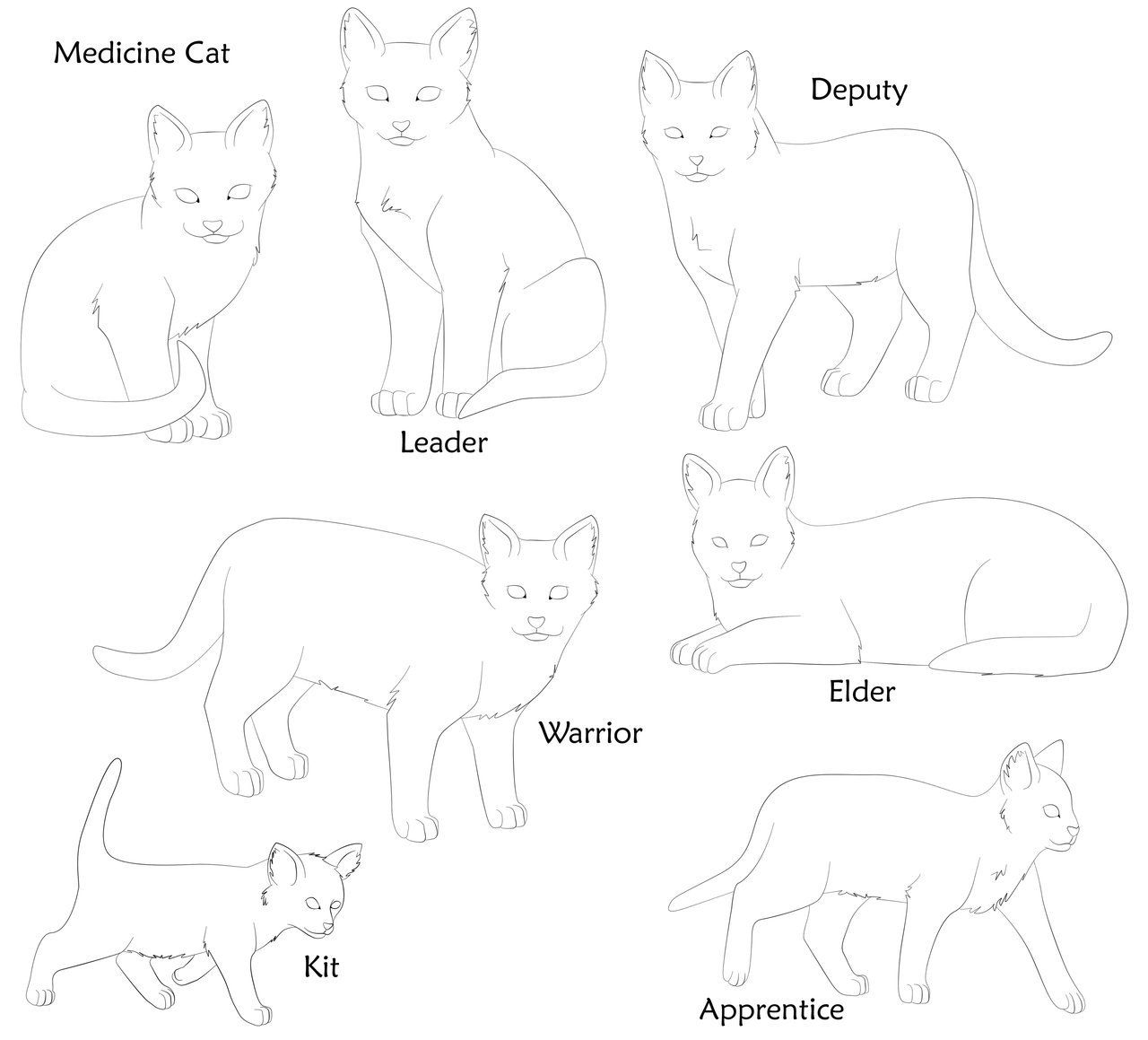 Warrior Cat Bases By Dog Rose On Deviantart Warrior Cats